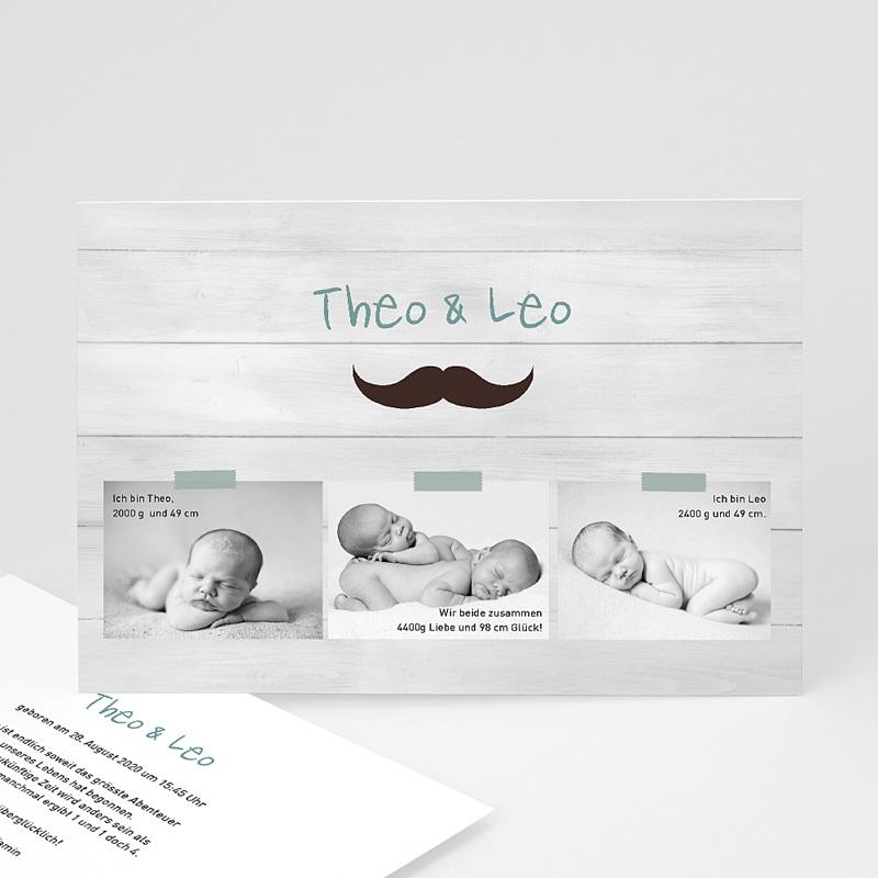 Geburtskarten für Zwillinge Zwillingspaar