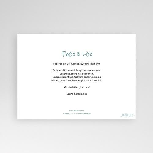 Babykarten für Zwillinge gestalten - Zwillingspaar 24831 preview