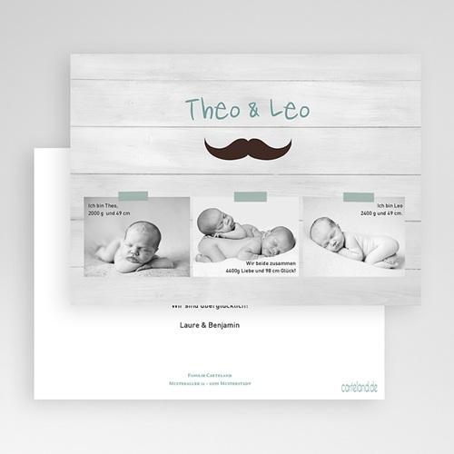 Babykarten für Zwillinge gestalten - Zwillingspaar 24832 preview