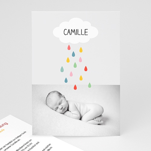 Einladungskarten Taufe Mädchen - Regenbogenfarben 24874
