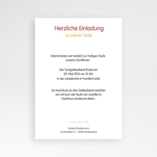 Einladungskarten Taufe Mädchen - Regenbogenfarben 24875 preview