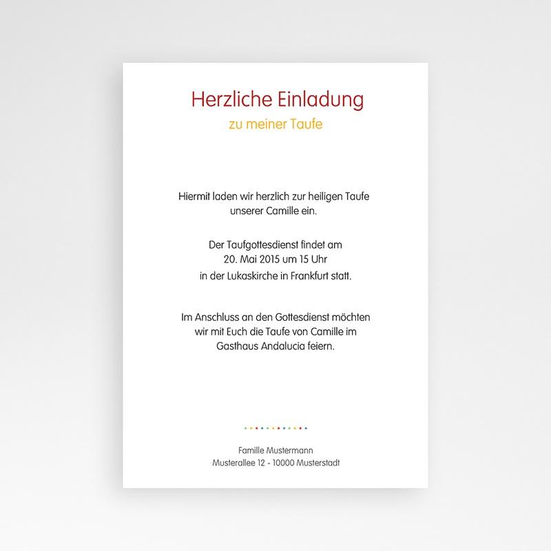 ... Einladungskarten Taufe Mädchen   Regenbogenfarben 24875 Thumb ...