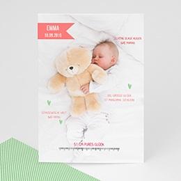Geburtskarten selbst gestalten  - Teddy - 1