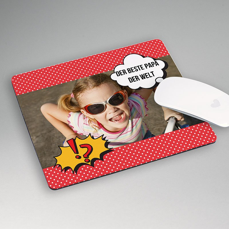 Personalisierte Foto-Mousepad Super Papa