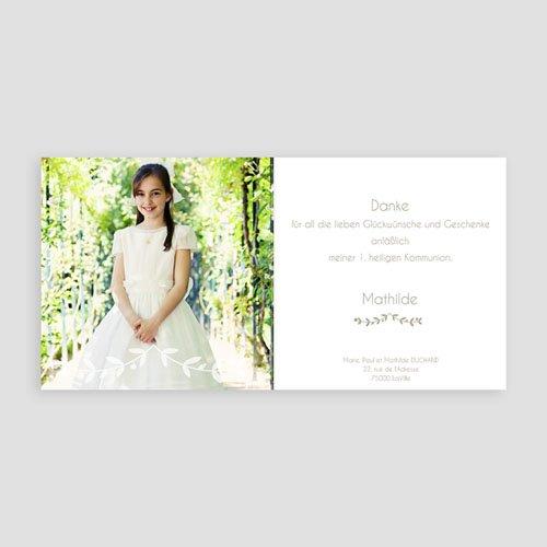 Dankeskarten Kommunion Mädchen - Glaube 24933 preview