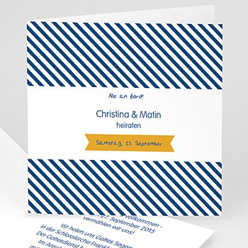 Hochzeitseinladungen modern - Air Marin - 1