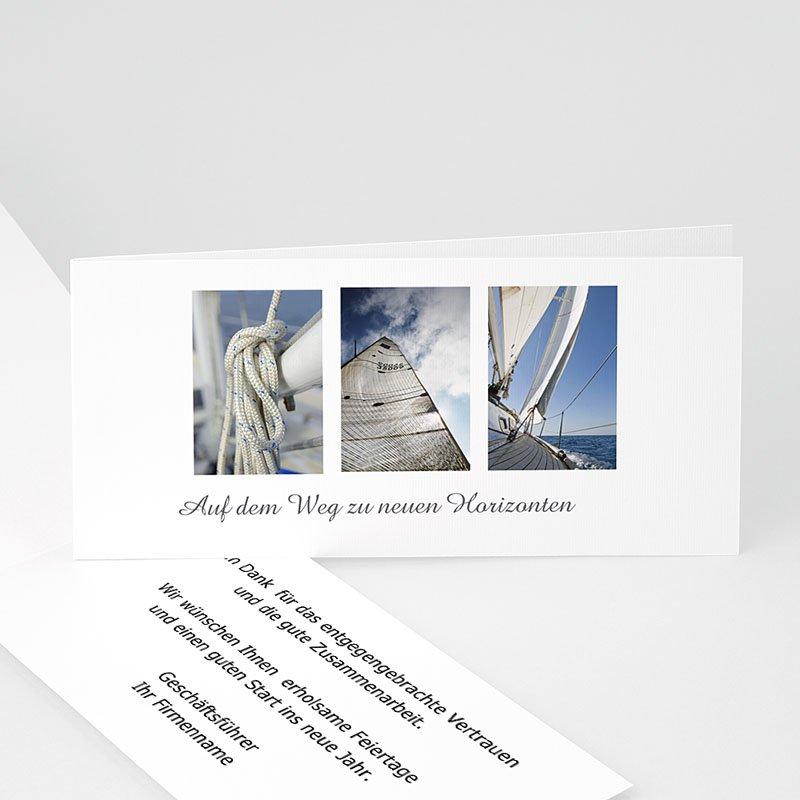 Geschäftliche Weihnachtskarten Glitzerbaum