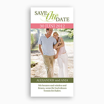Save The Date  - Hochzeitskarte Frühling - 1