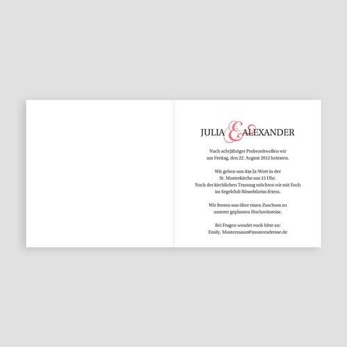 Hochzeitseinladungen modern - Pessoa 2545 preview