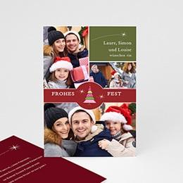 Weihnachtskarten Bescherung