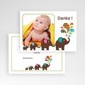 Dankeskarten Geburt Jungen Elefant pas cher
