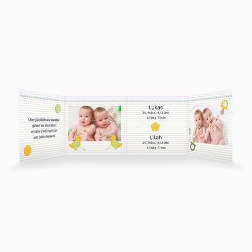 Babykarten für Zwillinge gestalten - Siamesisch 2697 test