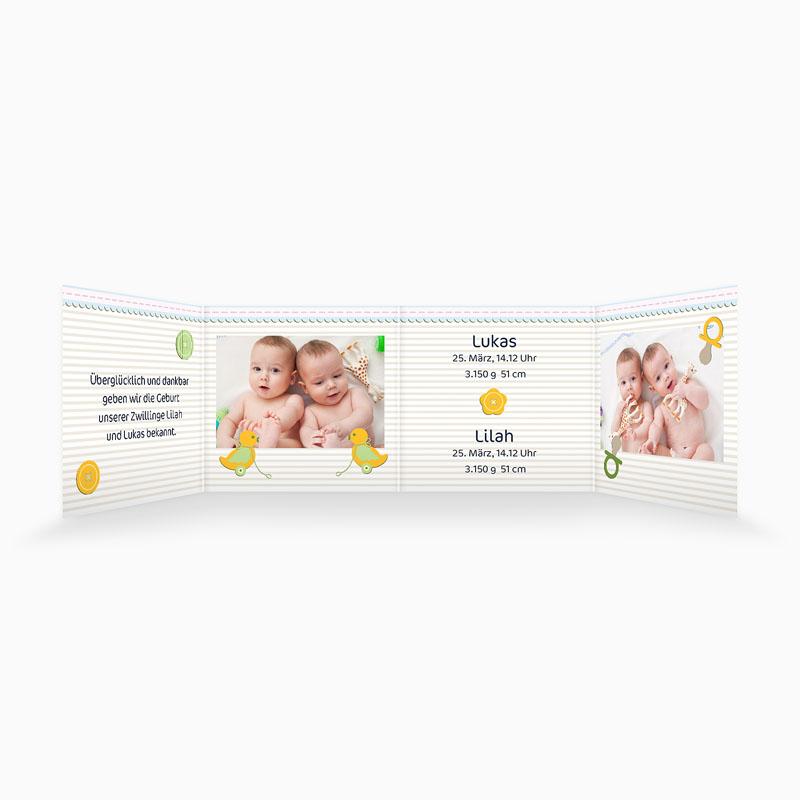 Babykarten für Zwillinge gestalten - Siamesisch 2697 thumb