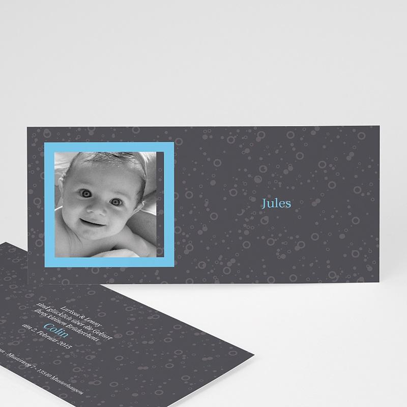 Geburtskarten für Mädchen - Grau blau 2738 thumb