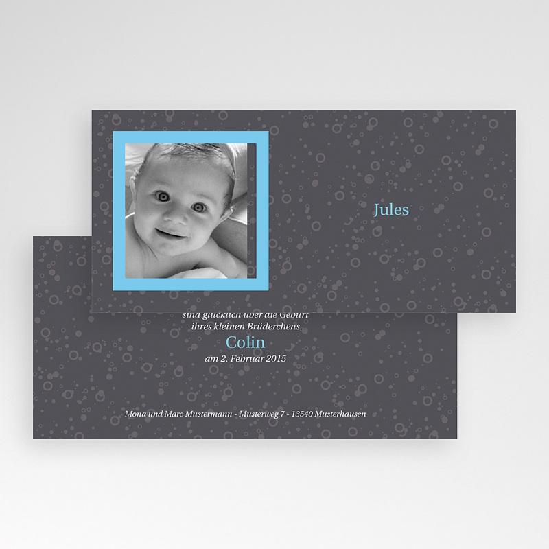Geburtskarten für Mädchen - Grau blau 2739 thumb
