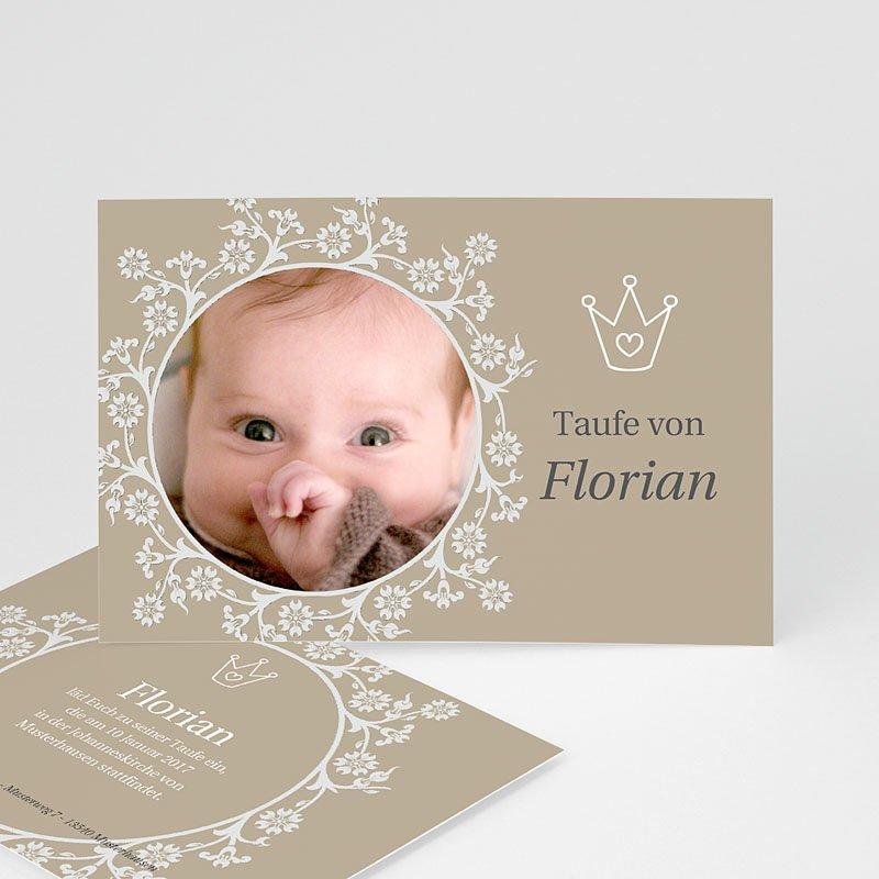 Einladungskarten Taufe für Mädchen Kleiner Prinz