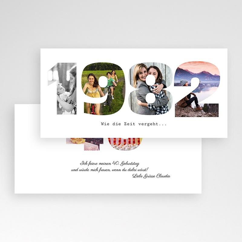 Erwachsener Einladungskarten Geburtstag Geburtsdatum pas cher