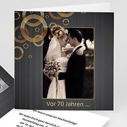 Einlegekarte Anniversaire mariage Kreise