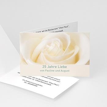 Silberhochzeit und goldene Hochzeit  Weisse rose