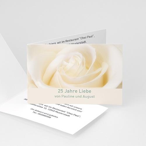 Silberhochzeit und goldene Hochzeit  - Weisse Rose  2786