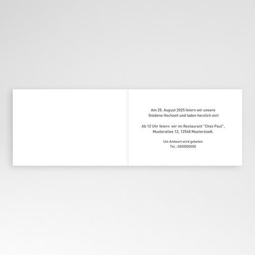 Silberhochzeit und goldene Hochzeit  - Weisse rose 2787 test