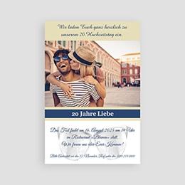 Einlegekarte Anniversaire mariage Silberhochzeit
