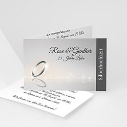 Einlegekarte Anniversaire mariage Silberne hochzeit