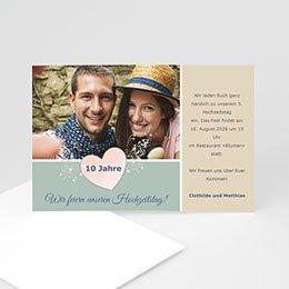 Einlegekarte Anniversaire mariage Goldene Hochzeit