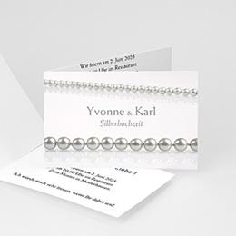 Einlegekarte Anniversaire mariage Perlen