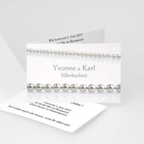 Silberhochzeit und goldene Hochzeit  - Perlen 2802