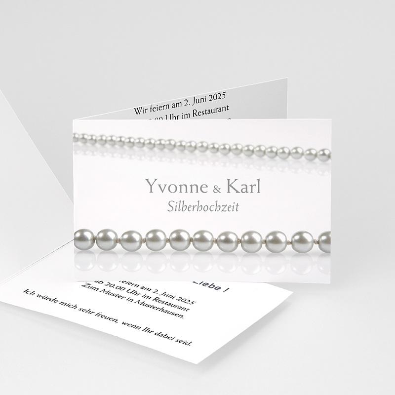 Silberhochzeit und goldene Hochzeit  Perlen