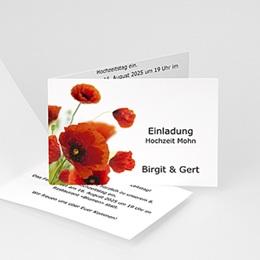 Einlegekarte Anniversaire mariage Mohnblumen