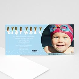 Einlegekarte Kindergeburtstag Leine