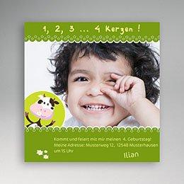 Einlegekarte Kindergeburtstag Muh