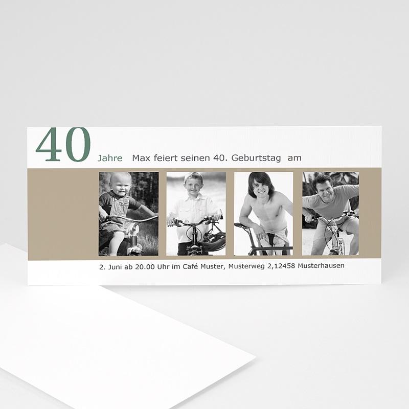 Erwachsener Einladungskarten Geburtstag Kinderfotos