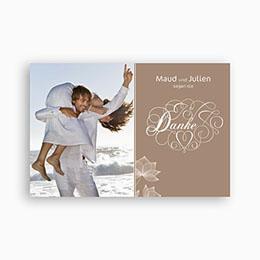 Danksagungskarten Hochzeit  Lavendel