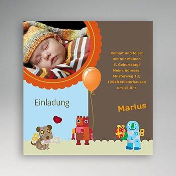 Geburtstagseinladungen Jungen - Geburtagskarte - 1