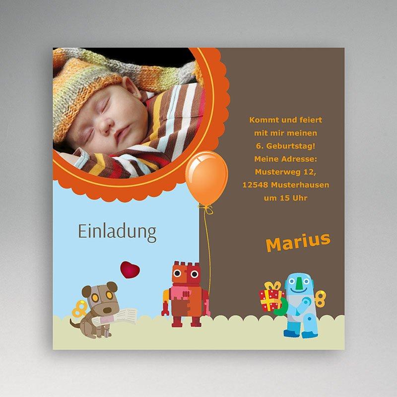 Einladungskarten Geburtstag Jungen Armin