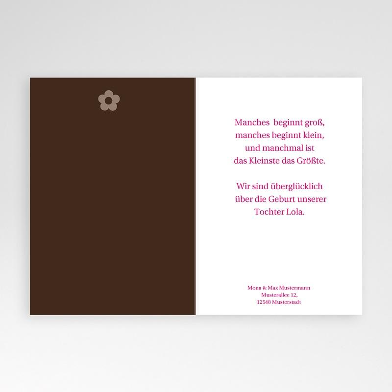 Geburtskarten für Mädchen Blumendesign pas cher