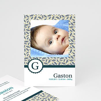 Babykarten für Jungen - Babykarte Theo - 1