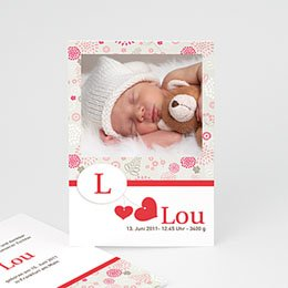 Geburtskarten für Mädchen Lou
