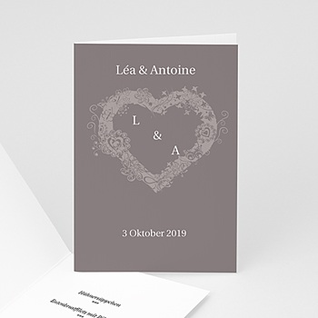 Menükarten Hochzeit  - Hochzeitskarte Herz - 1