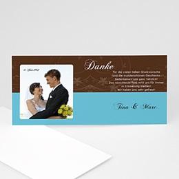 Danksagungskarten Hochzeit  - Hochzeitskarte - 1