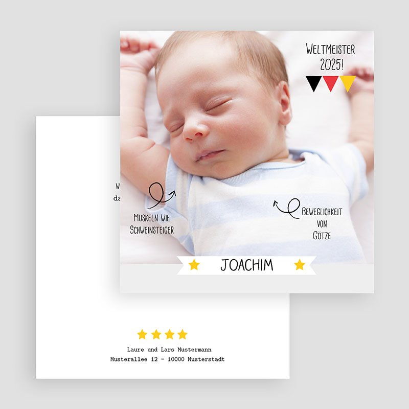 Lustige Geburtskarten Weltmeister gratuit