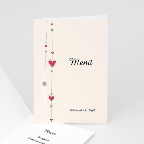 Menükarten Hochzeit  Paris