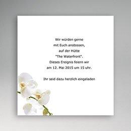 Einlegekarte individuell Orchidee