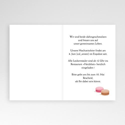 Hochzeitseinladungen Gourmand Suess pas cher