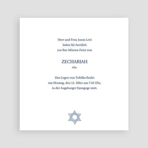 Bar Mitzwah Einladung - Fotoreihe 3101 test