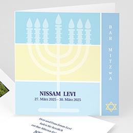 Karten Bar Mitzvah Menorah