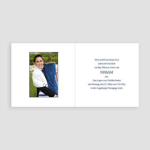 Bar Mitzwah Einladung - Menorah 3105 preview